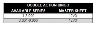 Double Action Bingo Paper Series