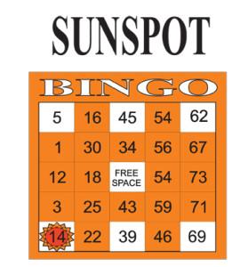 Sunspot Bingo Paper